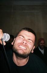 misha blagodir. offside2018. lviv. (Yaroslav F.) Tags: portrait analog 35mm punk posthardcore hard core yashica t5 blagodir mike misha bluesbreaker bluesbreakercrew 044hc show lviv palais ideal ярослав гроб yaroslav grob 7906 kyiv kiev