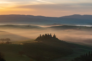 Val d'Orcia in Tuscany (Siena)