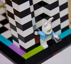 Alice in Wonderland: Down the Rabbit Hole (white rabbit) (TW2310) Tags: lego ideas alice wonderland colourful disney curious classic furniture rabbit white hole movie lewis carroll chapter one falling