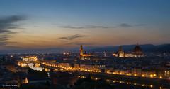 Florence Skyline (C_Calladine) Tags: sunset italy florence arnoriver pontevecchio palazzovecchio duomo longexposure piazzalemichelangelo skyline starburst