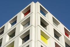 Corner of the Mondriaan college (Jan van der Wolf) Tags: map170311v modernarchitecture mondriaan college colors corner hoek building gebouw facade gevel denhaag architecture architectuur primarycolors primairekleuren school kleuren
