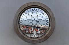 Lisbon Minimal (thewhitewolf72) Tags: lisbon circle view ship town roofs wall ornament