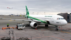 Iraqi Airways A320. (spencer_wilmot) Tags: yiara a320 iraqiairways aviation airplane airbus cph ekch kastrup copenhagen ramp apron taxiway stand gate loading flight flying civilaviation commercialaviation plane passengerjet green jet jetliner mediumhaul narrowbody aircraft twin