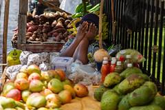 Too shy! (Sam Codrington) Tags: svg holidays portrait market marketstall street people canon5d shy caribbean travelphotography stvincent streetphotography woman fruits kajagoogoo kingstown travel stgeorge saintvincentandthegrenadines vc
