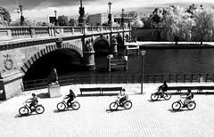 ¡Krydsende Cyklister! (Renate R) Tags: krydsendecyklister berlin bikes river spree fluss bridge brücke reichstagsgebäude fernsehturm innamoramento