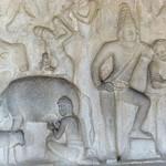 Reliefdarstellung, Mamallapuram (Indien)