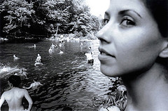 Female Portrait (Chris Lopez) Tags: county boy shirtless summer portrait lake ny water girl face kids female swimming swim pond bare lips suit bikini palenville ulster