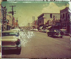 Border Town (mikerosebery) Tags: mexico polaroid bordertown imagetransfer 669 lsusarchives