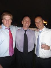 Hairy Redhead and Two Bald Guys (Neubie) Tags: wedding men mike ties capecod massachusetts marion baldmen macneil mattapoisett neubie gerrydunning mikemacneil colemanhouse muphywedding colemanmurphywedding