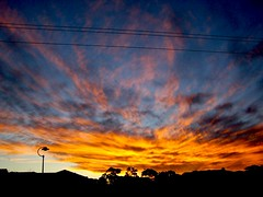 Stunning sky (Earlette) Tags: sunset sky orange color colour beautiful yellow clouds australia nsw oldbar