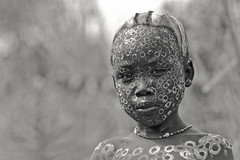 Ethiopian Portraits (foto_morgana) Tags: people bw portraits tribal tribes omovalley ethiopia ethnic surma kibish