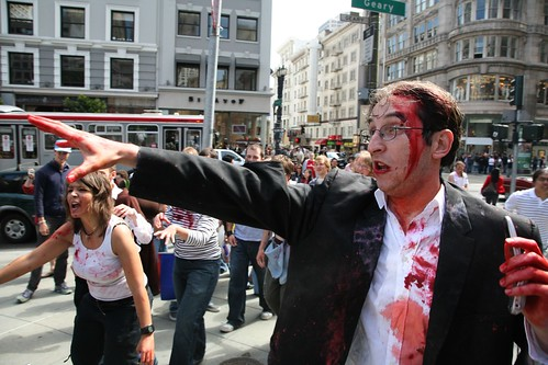 SF zombie mob - photo by Scott Beale / Laughing Squid