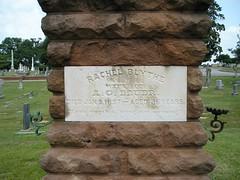 Rachel Blythe, Oakwood Cemetery