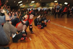 safe (birdcage) Tags: crash rollerderby maryland slide baltimore playoffs jammer charmcityrollergirls mobtownmods nightterrors puttyhillskateland
