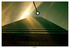Sources of Light (Arnold Pouteau's) Tags: nyc newyorkcity sunset newyork downtown manhattan worldtradecenter