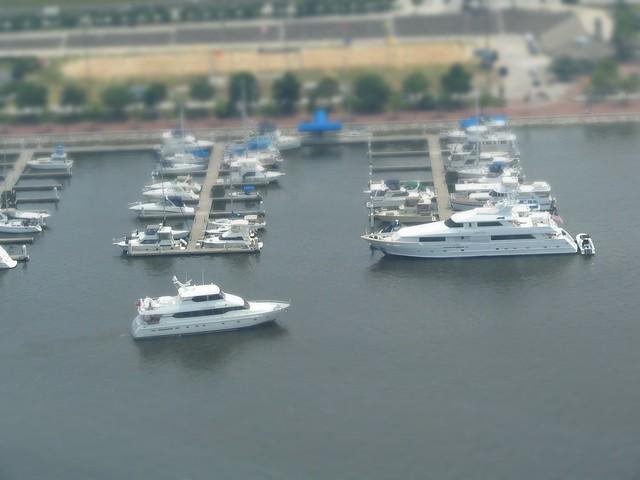Tilt Shift Mini Fake:  Inner Harbor Ships