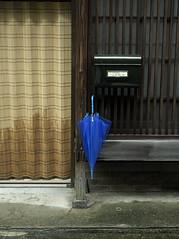 Day of rain (kenji2006) Tags: blue japan umbrella lattice