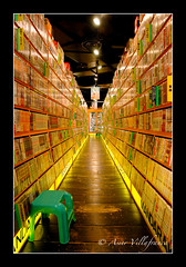 JAPAN - Tokyo - Manga shop (Asier Villafranca) Tags: yellow japan shop japanese tokyo vanishingpoint comic library shibuya manga indoor books bookstore shelf straight lmff lmff1 lmff2 lmff3 lmff4 lmff5 score54 lpshops