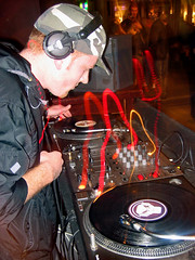 'Rotation' - 25th July '06 (Crittz) Tags: music records bar dj vinyl mixer technics auckland jungle turntables record headphones rotation nightlife tunes decks dnb ponsonby 12inch metalheadz drumnbass drumandbass safarilounge pakage