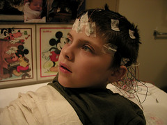 EEG 1/2 (massdistraction) Tags: son wires littleman eeg healthcare autism neurology seizures electrodes childrenshospital pdd staringepisodes absenceseizures