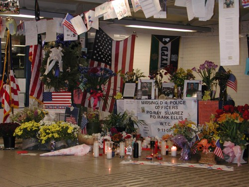 9/11 memorial outside Union Square Subway Police Station
