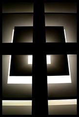 Jesus light (Christine Lebrasseur) Tags: light shadow blackandwhite brown white black paris france art museum architecture canon shadows cross louvre ceiling cruz museo onblack luminary lmite alumbrado mximo interestingness390 tccomp089 gardela4 virela8 virela10 tiensctait1jouraprsmonanniv allrightsreservedchristinelebrasseur