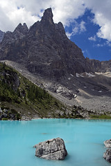 Lago di Sorapiss - Dolomiti (Stephen P. Johnson) Tags: blue italy lake mountains wow lago italia explore dolomites dolomiti sorapis abigfave p1f1