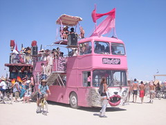 Pink bus with lips (Smoobs) Tags: man art desert nevada playa 2006 burningman blackrockcity burning burn brc reno blackrockdesert nevadadesert playadust burningman2006