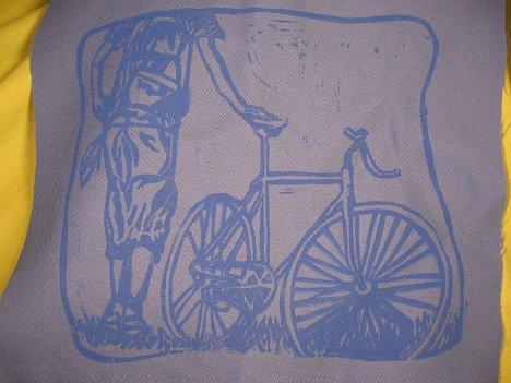 justin-bike Linocut