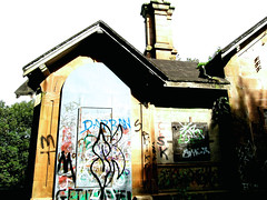 Hamilton Mausoleum Care Takers Lodge (ivan_the_monkey) Tags: graffiti hamilton lodge mausoleum care takers