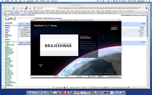 Brajeshwar on Flash Timeline - 10 years of Flash