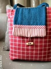 o saco do gaspar (Tania Ho) Tags: bag embroidery sewing crafts badge gaspar