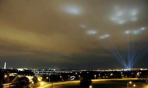 The Pentagon's tribute in light