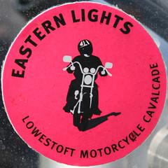 EASTERN LIGHTS LOWESTOFT MOTORCYCLE CAVALCADE (Leo Reynolds) Tags: sign canon eos sticker iso400 squaredcircle f11 135mm 30d 0ev hpexif 0002sec xsquarex sqset013 xleol30x xratio1x1x xxx2006xxx