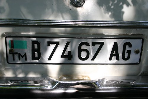License plate, Turkmenistan