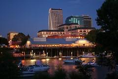 Sacramento skyline at night (ZekaG) Tags: california skyline night river boats capital sacramento creativephotographers