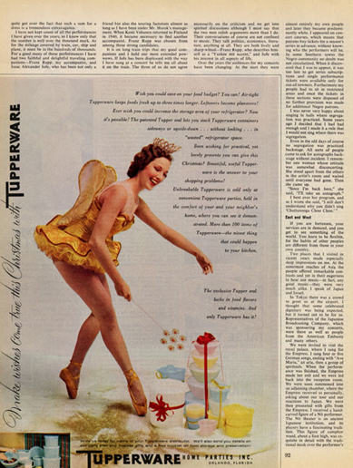 Fairy, Tupperware ad, 1950s?