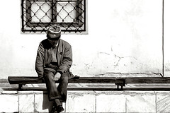 Sleeper (Manolo) Tags: life people bw colors person romania tipical lonesome