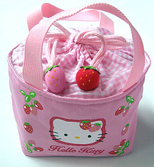 Hello Kitty Strawberry kinchaku (pkoceres) Tags: pink japan bag lunch strawberry hellokitty sanrio bento      boughtonebay  hellokittystrawberry