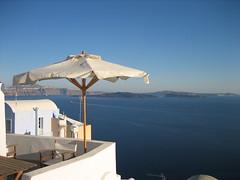 Santorini () Tags: blue sea vacation holiday island mediterraneo cross bleu santorini greece grecia cru