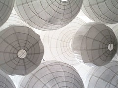white lanterns (Darwin Bell) Tags: white abstract pools less 2pair