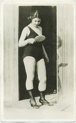 1920s swimsuit mirror (carbonated) Tags: 1920s woman stockings mirror bathingsuit beachy vintagephotograph