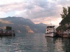 """Lake-boat station / """"""""  (dmitryku) Tags: lake color gardalake rivadelgarda"""