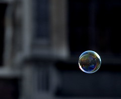 he floats a bubble in the air... (d_oracle) Tags: sunset macro reflection landscape soap nikon bravo belgium belgie action bubble antwerp d200 antwerpen landschap magicdonkey 18200mmvr cy2 fivestarsgallery 123f90 superaplus aplusphoto