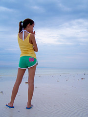 Angie (marcgodz) Tags: sea sky beach girl fashion saveme philippines marc cebu 86 emotive lapulapu cebusugbo usctc godornes