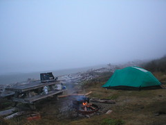 home by the sea (tbone_sandwich) Tags: morning camping misty breakfast table washington picnic tent campfire campsite pacificcoast picnictable homebythesea