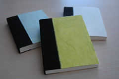 books (bookgrl) Tags: paper book handmade journal etsy bound bookcloth japanesetissue