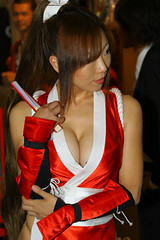 And who might you be, I wonder? (Maxx Manboeuf) Tags: show game japanese tokyo babes hotties chicks cleavage tokyogameshow racequeen tgs2006 イベントコンパニオン ショーガール
