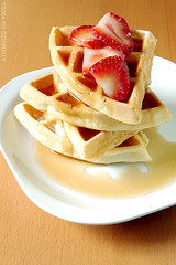 (hd connelly) Tags: food fruit breakfast hdconnelly interestingness strawberries explore syrup waffle