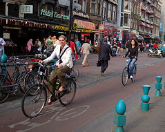 The Look (Sami__) Tags: woman netherlands girl amsterdam bike bicycle d50 nikon picnic06